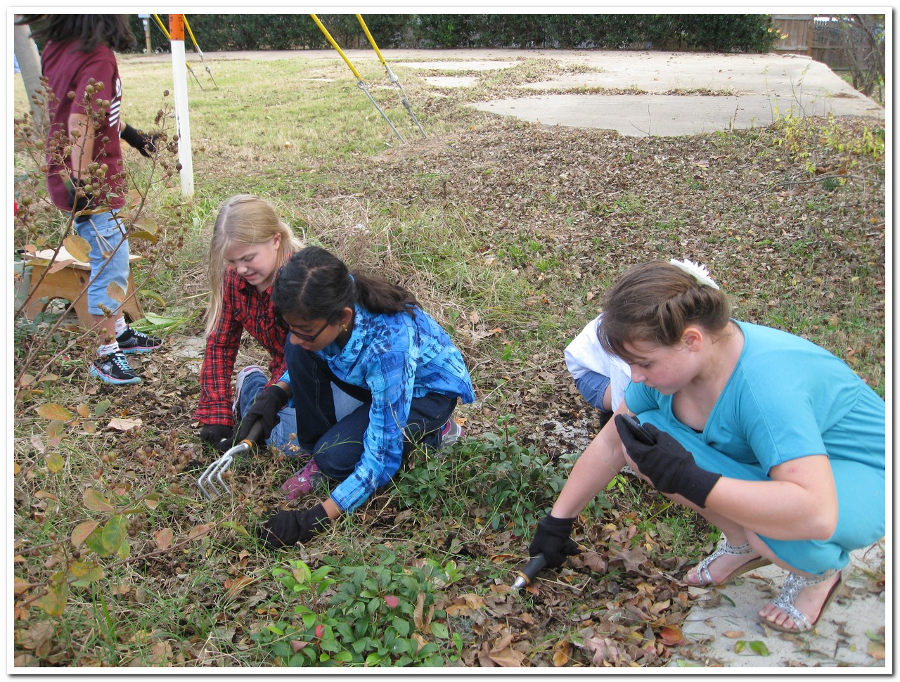 Weeds flower beds - Cleanup Crew From Brown Elementary Weeds Flower Beds At 110 And 346 Corners