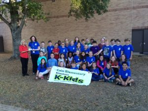 Keep Whitehouse Beautiful gave K-Kids of Cain Elementary a $200 Campus Beautification Grant